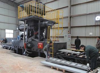 0612建筑铝模板自动化抛丸机